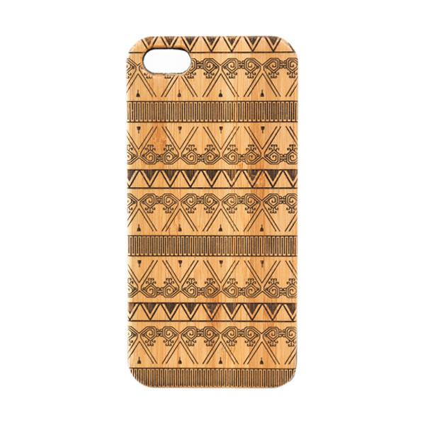 BatikGeek Bamboo Slim Version Tribal Ruit Casing for iPhone 5 or 5s