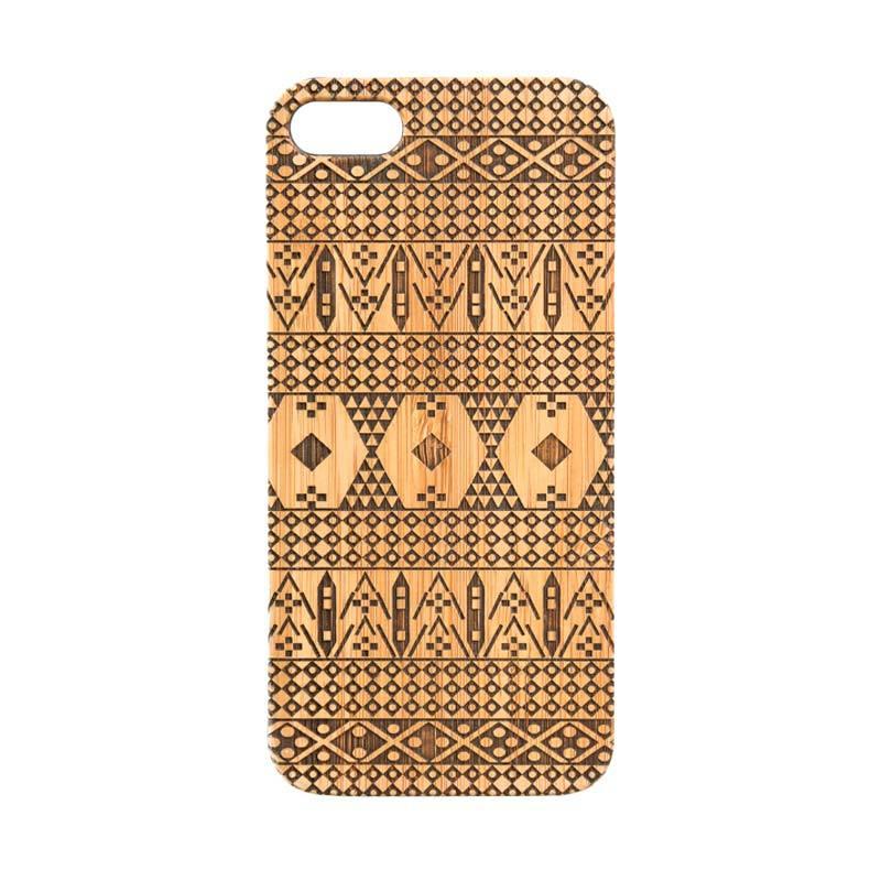 BatikGeek Bamboo Slim Version Tribal Ulos Casing for iPhone 5 or 5s