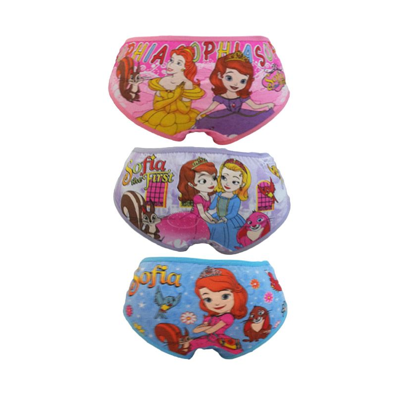 Bananana Karakter Sofia The First Celana Dalam Anak [Set 3 Pcs]