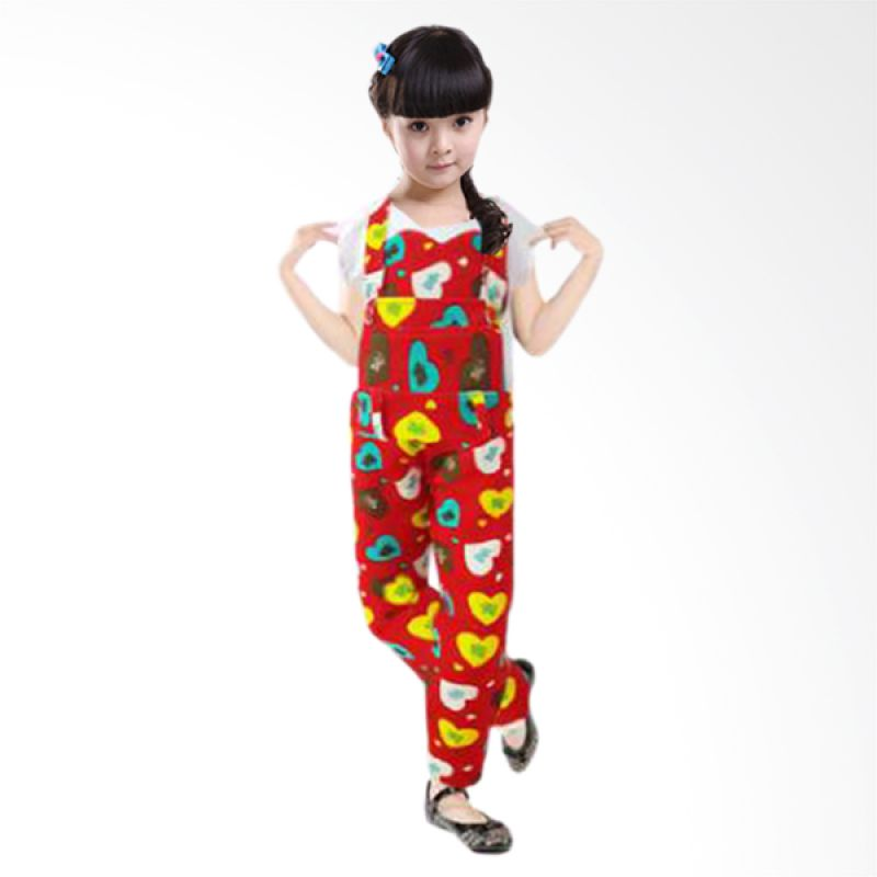 Bananana Overall Love Kiss Me 729 Red Jumper Anak Perempuan