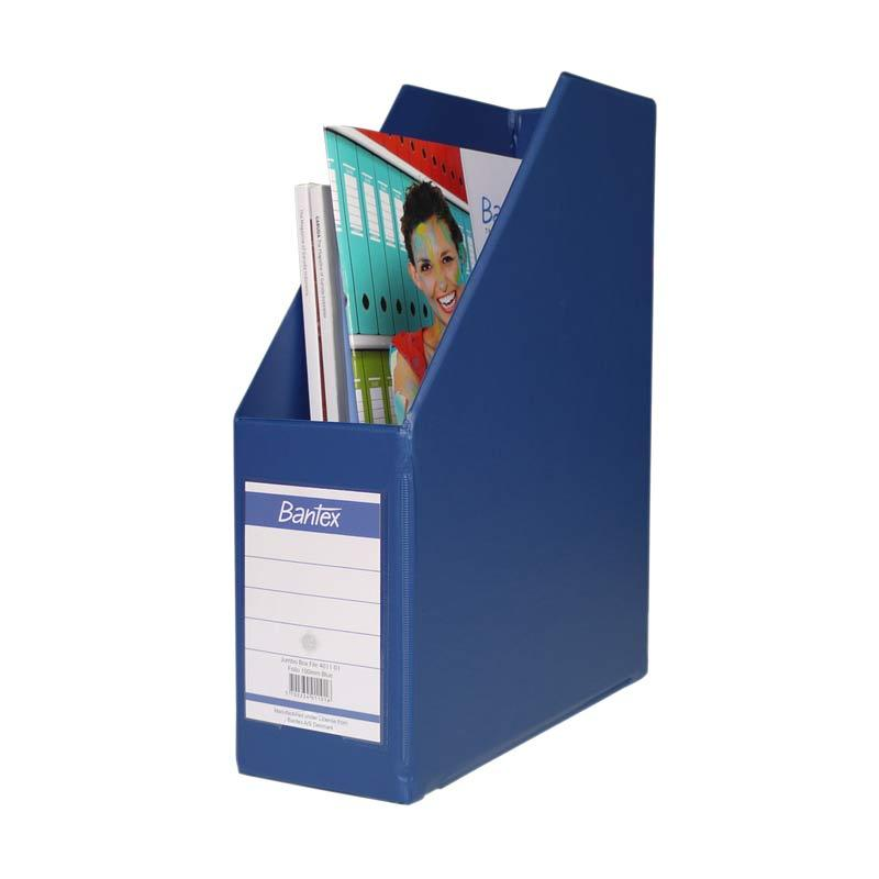 Bantex Magazine Files Folio (10 cm Capacity) Blue - 25 pcs