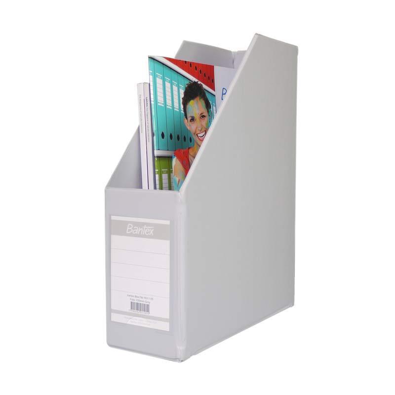 Bantex Magazine Files Folio (10 cm Capacity) Grey - 25 pcs