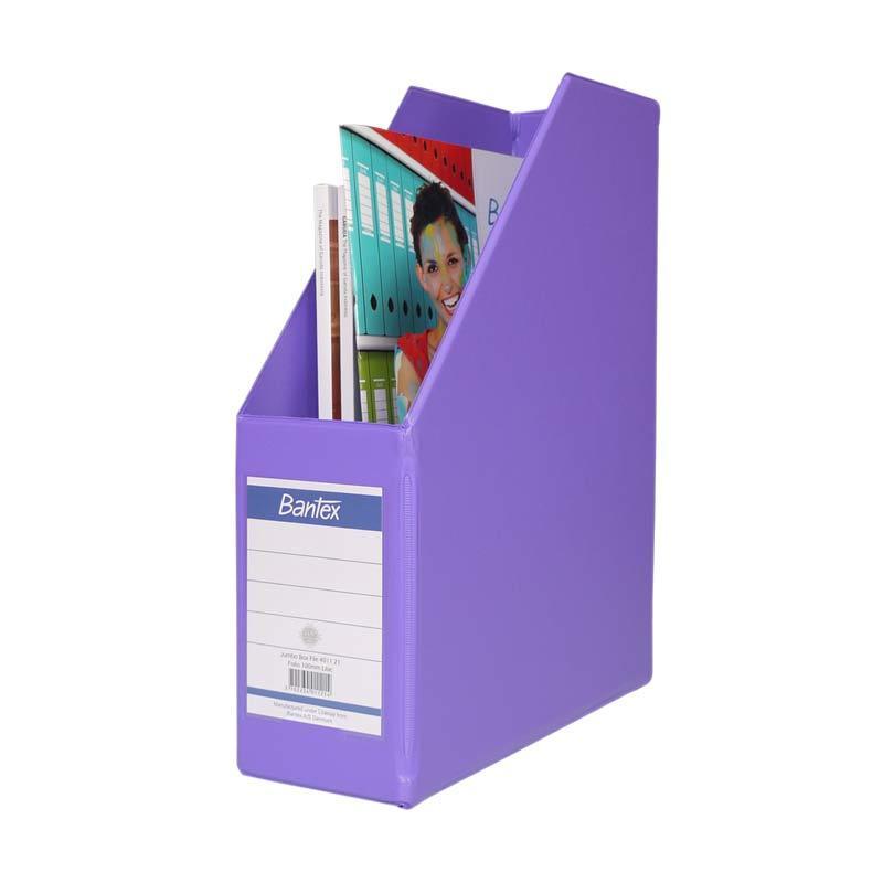 Bantex Magazine Files Folio (10 cm Capacity) Lilac - 25 pcs