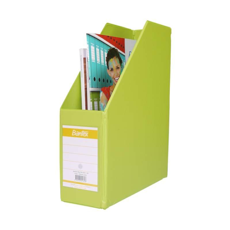 Bantex Magazine Files Folio (10 cm Capacity) Lime - 25 pcs
