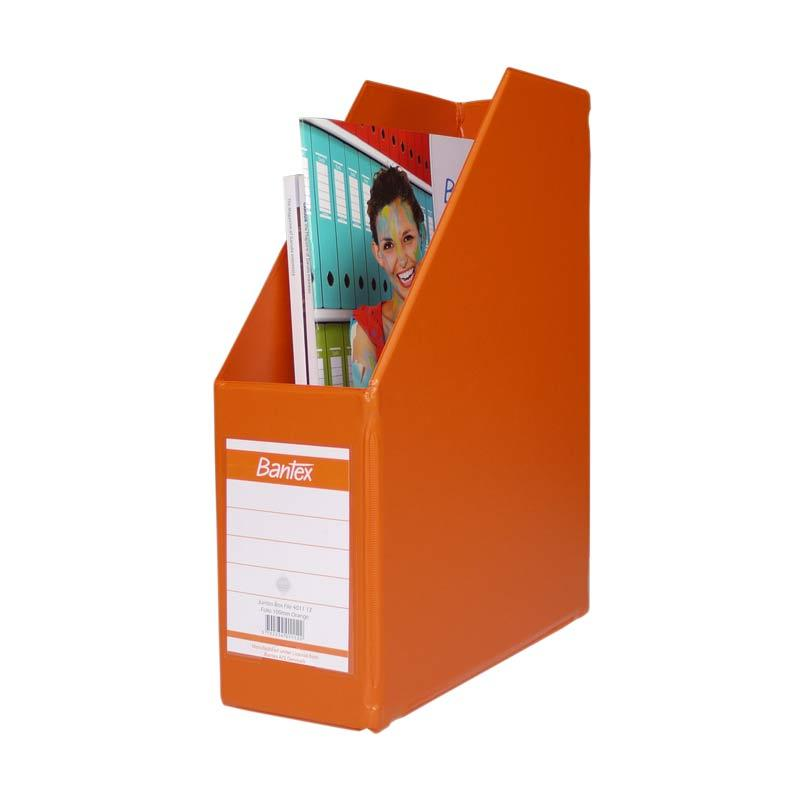 Bantex Magazine Files Folio (10 cm Capacity) Orange - 25 pcs