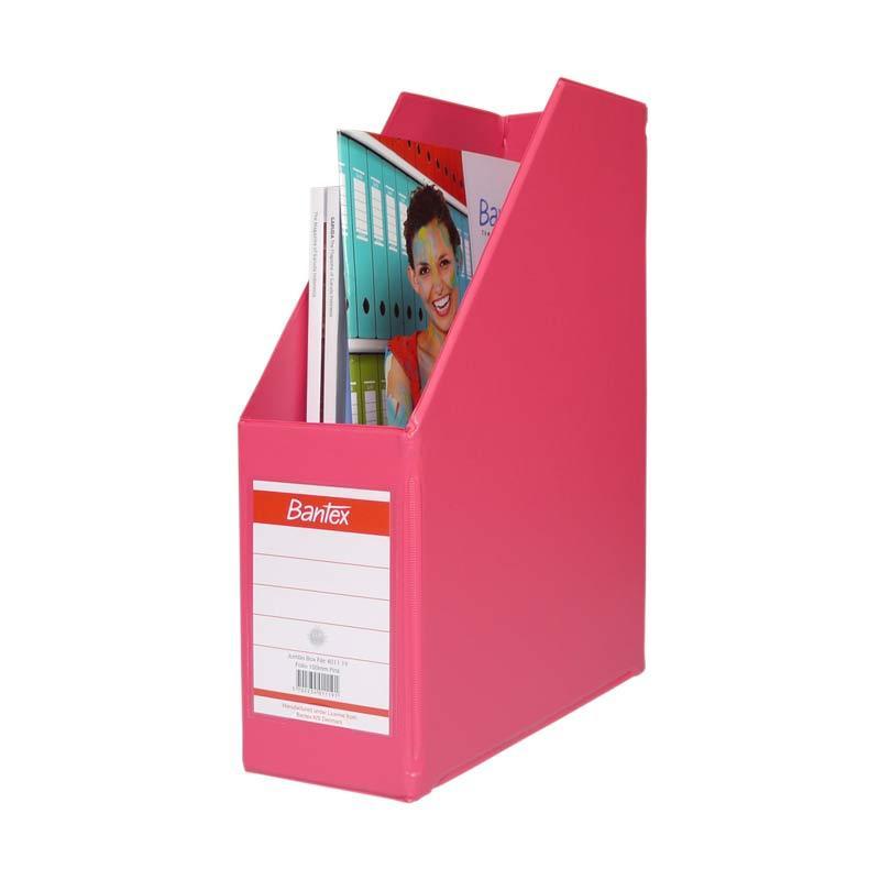 Bantex Magazine Files Folio (10 cm Capacity) Pink - 25 pcs
