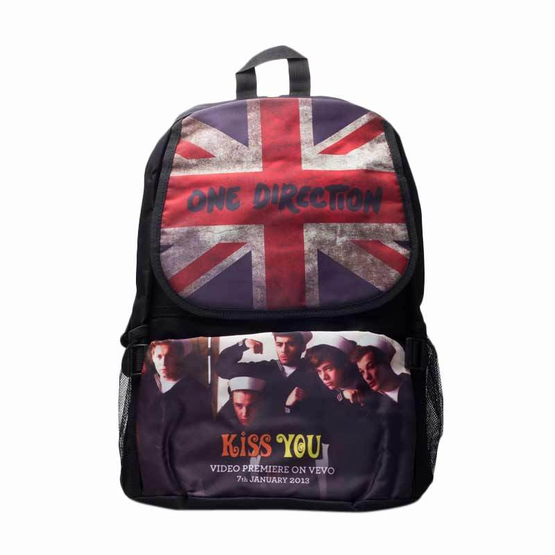 Barbarockfashion Tas Ransel One Direction Kiss You Canvas Black