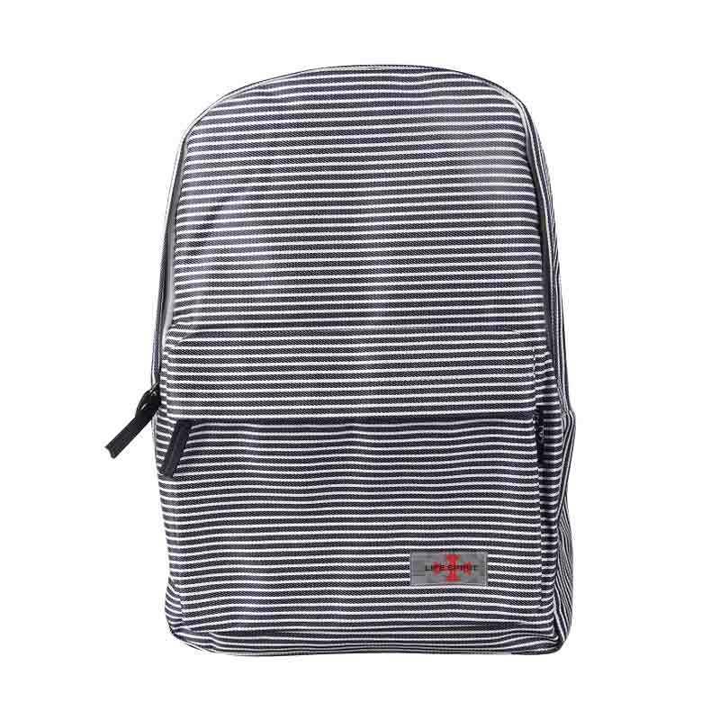 Life Spirit Ransel Stripe Bag White - Black
