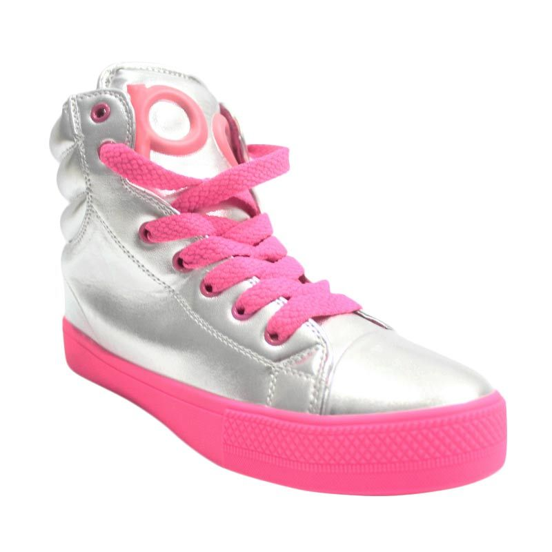 Popurcat Boots Silver Pink