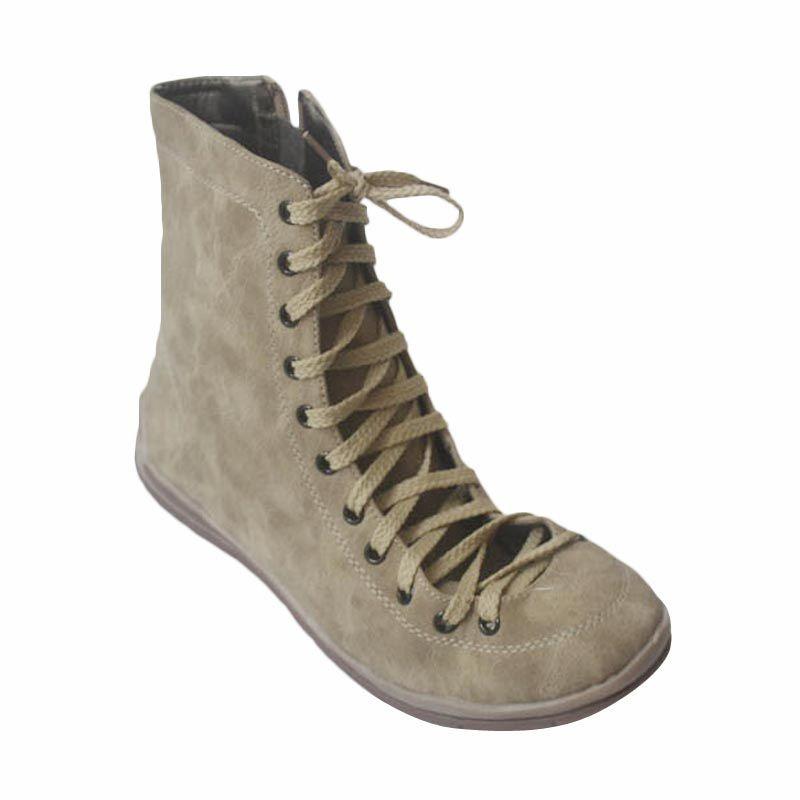 V33 Sepatu Boots Apricot