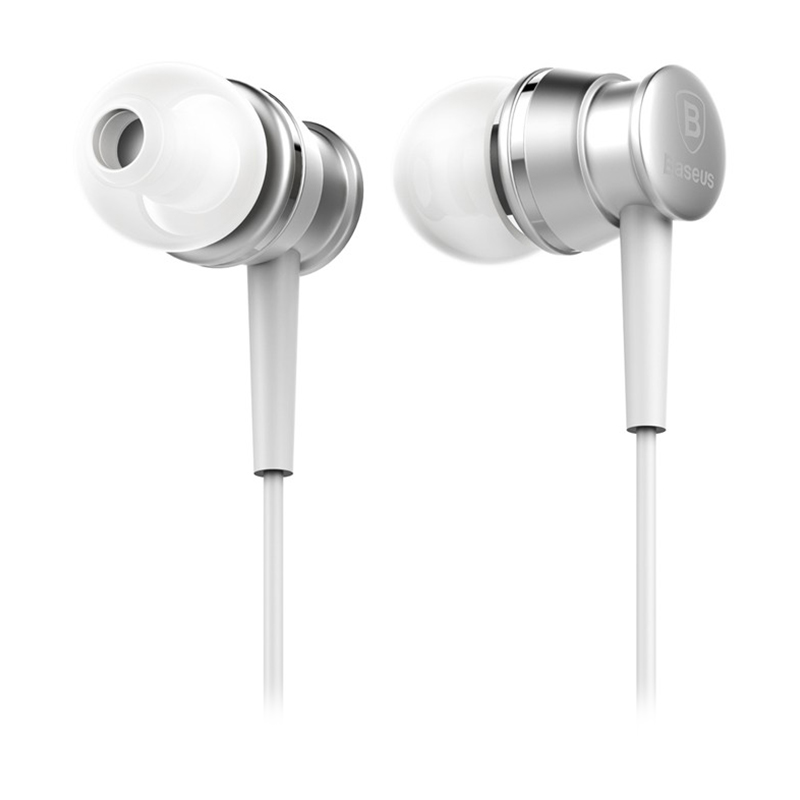 Baseus Lark Series Wired Earphones - Silver