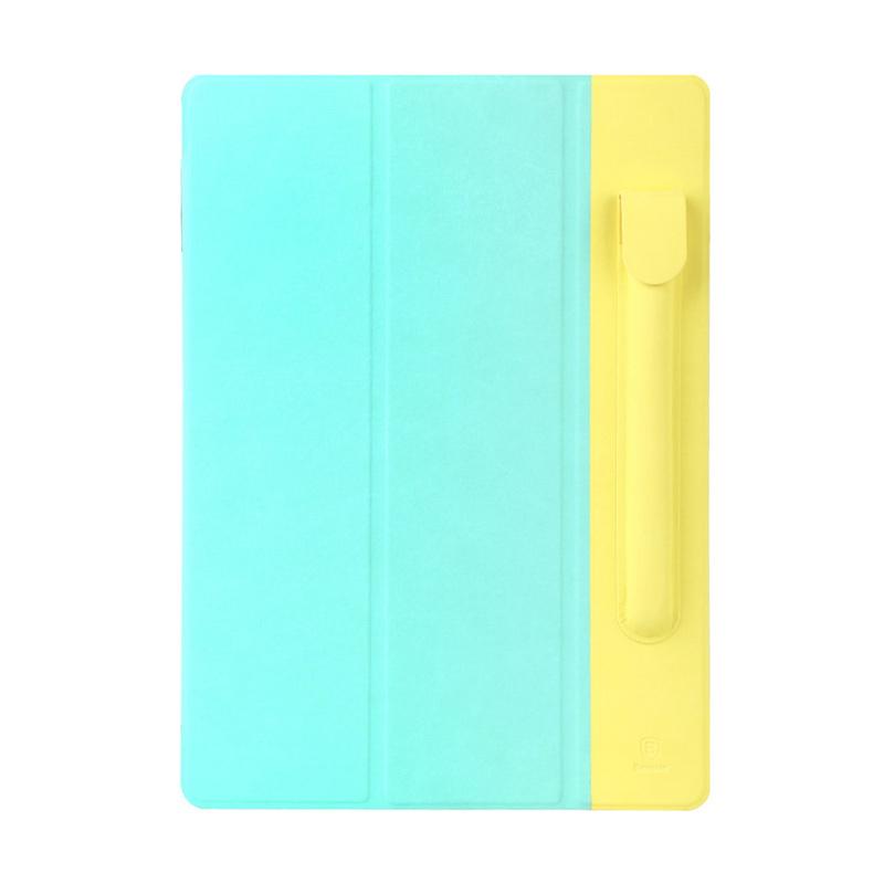 harga Baseus Original Terse Leather Casing for Apple iPad Pro With Pen Bag - Light Green / Yellow Blibli.com