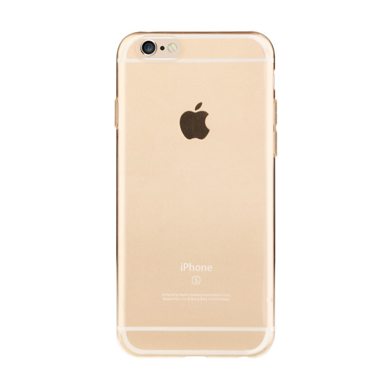 Baseus Pure Casing for iPhone 6 or 6S - Transparant Golden