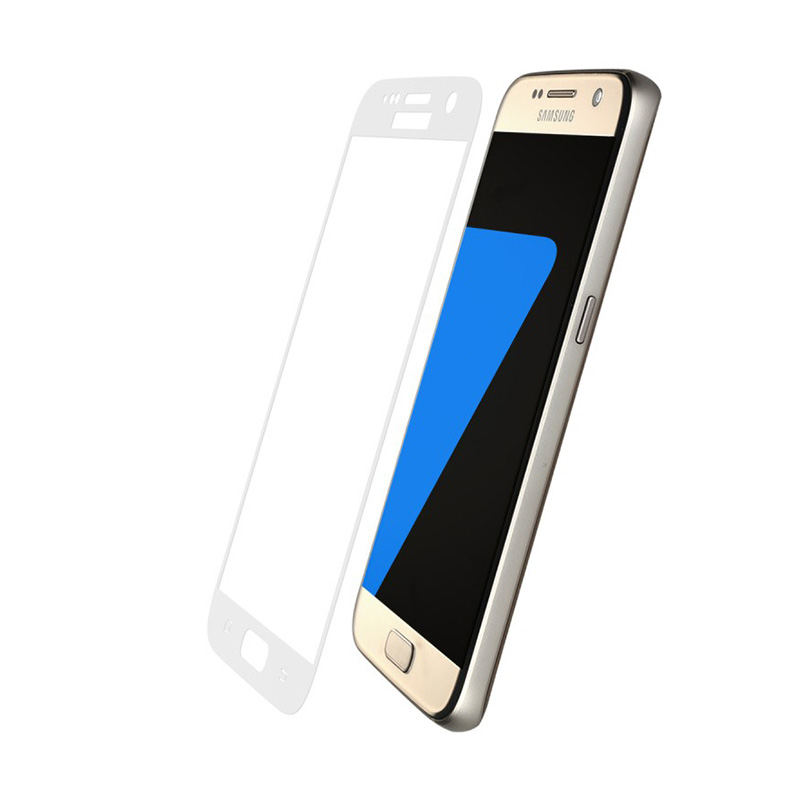Baseus Silk-screen 3D Arc Protective Film for Samsung Galaxy S7 - White [0.3mm]