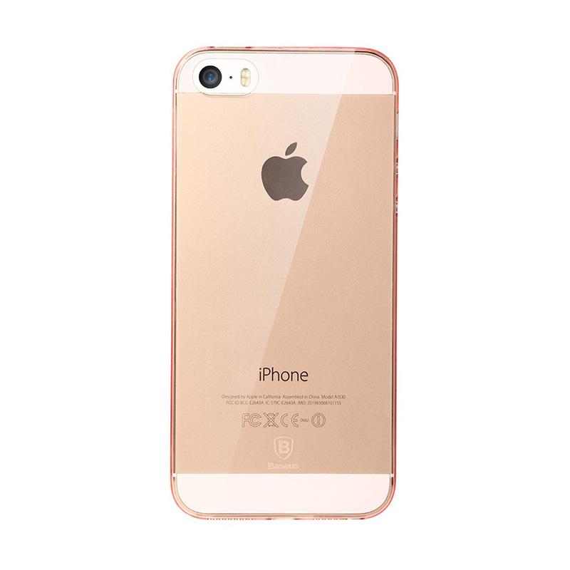 Baseus Sky Transparent Casing for iPhone 5/5s/SE - Pink