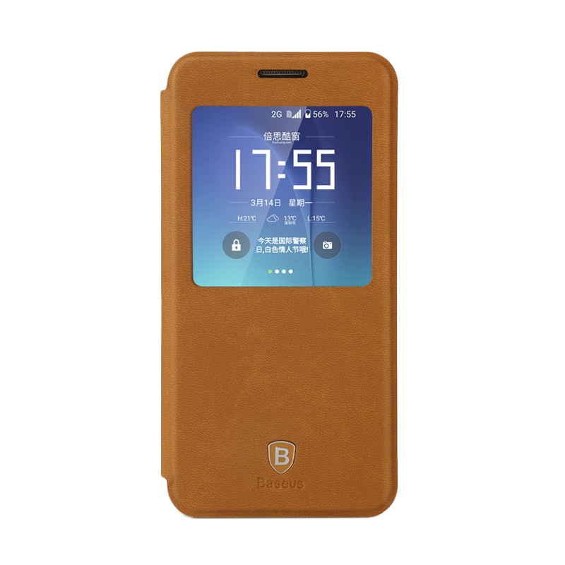 Baseus Terse leather Casing for Samsung Galaxy S7 - Brown