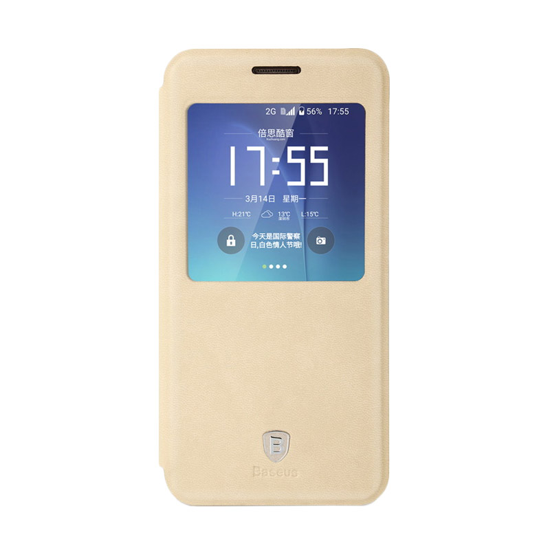 Baseus Terse leather Casing for Samsung Galaxy S7 - Khaki