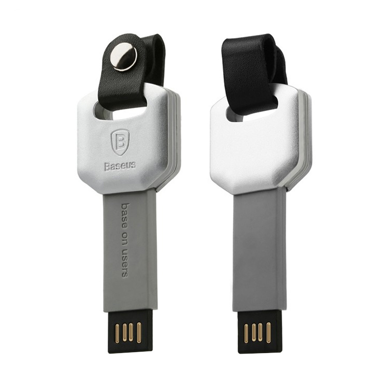 Baseus Turn Series Silver Grey Kabel Data for iPhone 6 or 6s