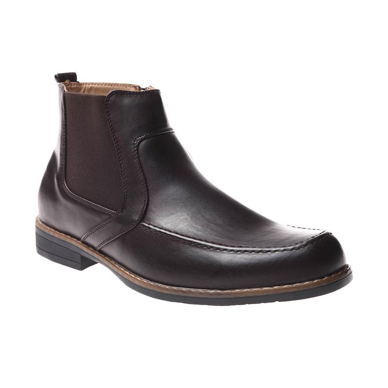 Bata Dmon Me Dress Sepatu Pria - Dark Brown