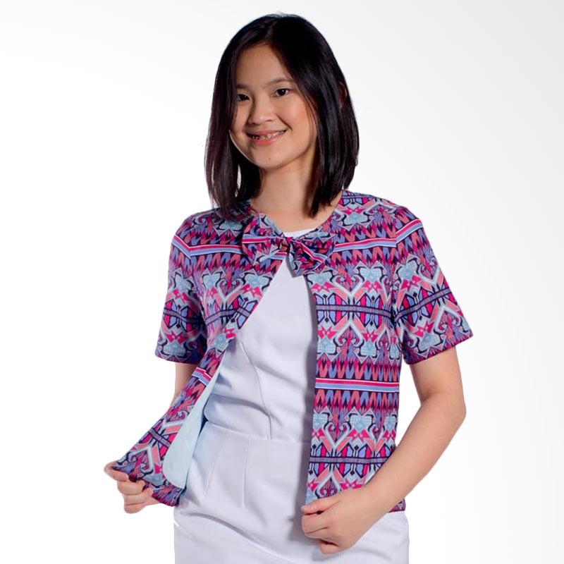 Bateeq Short Sleeve Cotton LA043A Blouse Atasan Wanita - Purple