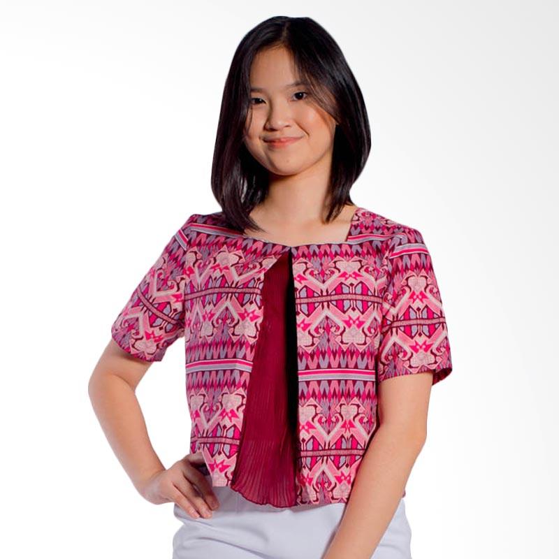 Bateeq Short Sleeve Cotton LA043B Blouse - Pink