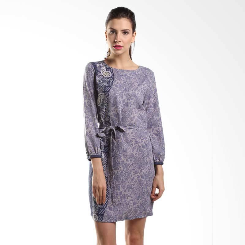 Batik Arjunaweda Women Sackdress Dobby Parsley 28304055 Gray Dress Batik