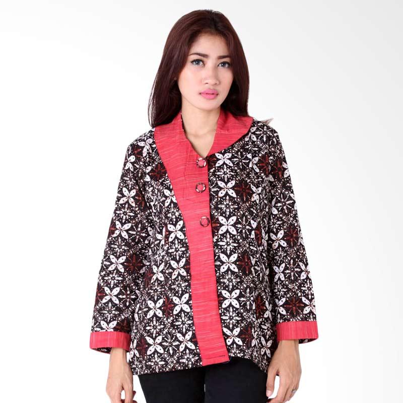 harga Batik Distro BA6447 Blus Kantor Panjang Furing Atasan Wanita - Coklat Blibli.com