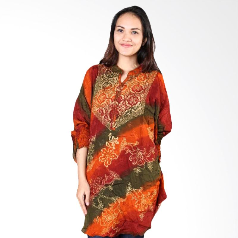 Batik Distro Blus Paris Payet Kelelawar BA0028