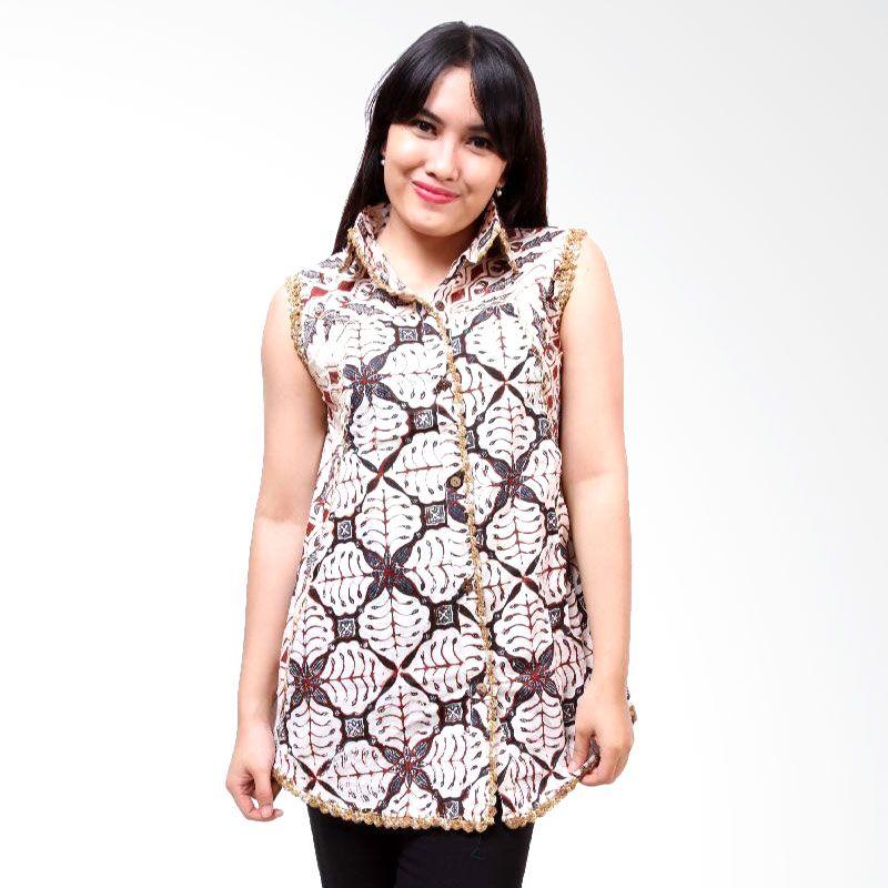 Batik Distro Blus TL Rajut BA3059 Putih Atasan Wanita
