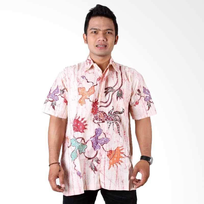 Batik Distro K7056 Magenta Kemeja Pria