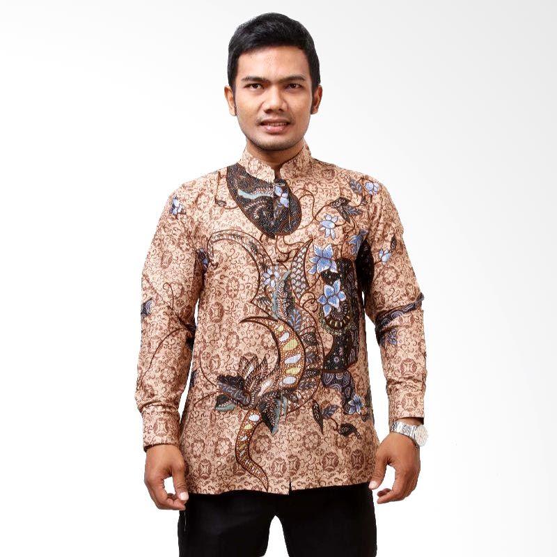 Batik Distro K7319 Coklat Kemeja Pria