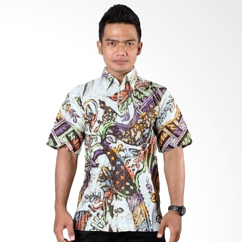 Batik Distro Kemeja Batik Bledak Putih K6086