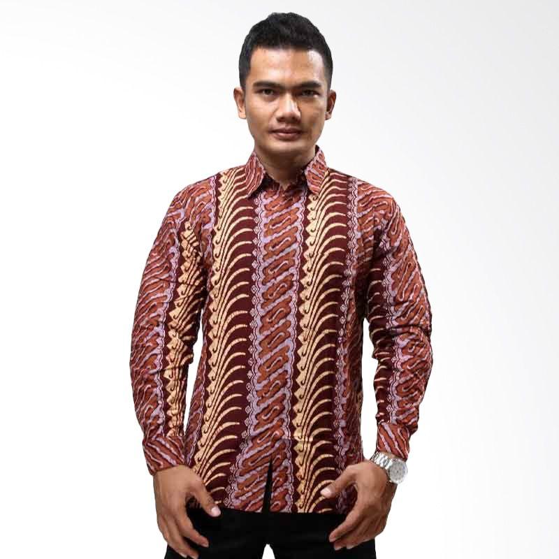Batik Distro Kemeja Batik Parang Red Brick K5964