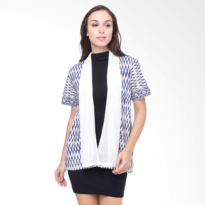Batik Etniq Craft Siffon Bolero - White