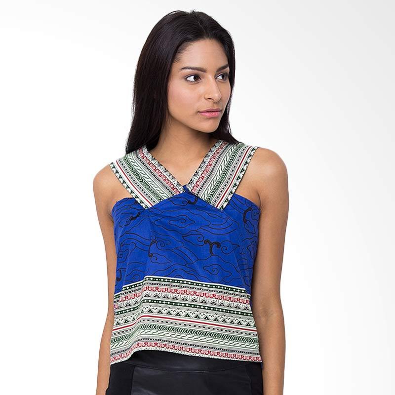 Batik Etniq Craft Luna Blouse Atasan Wanita - Blue