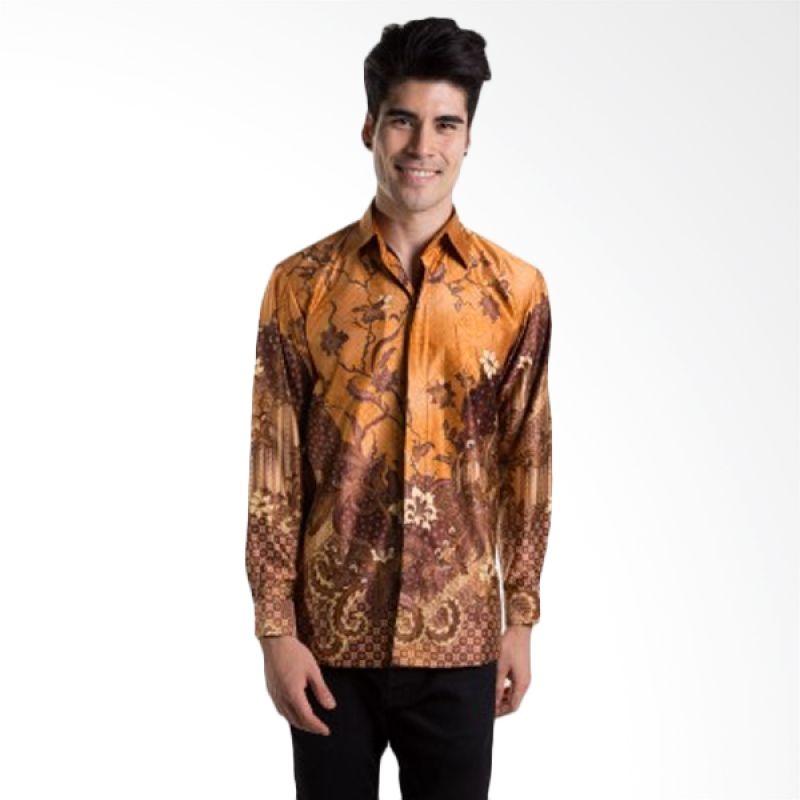 Batik Heritage Exclusive Linen Bunga Kipas Kuning Batik Pria