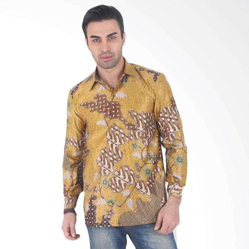 Batik Heritage Exclusive Linen Pola Bunga Jagad Gold