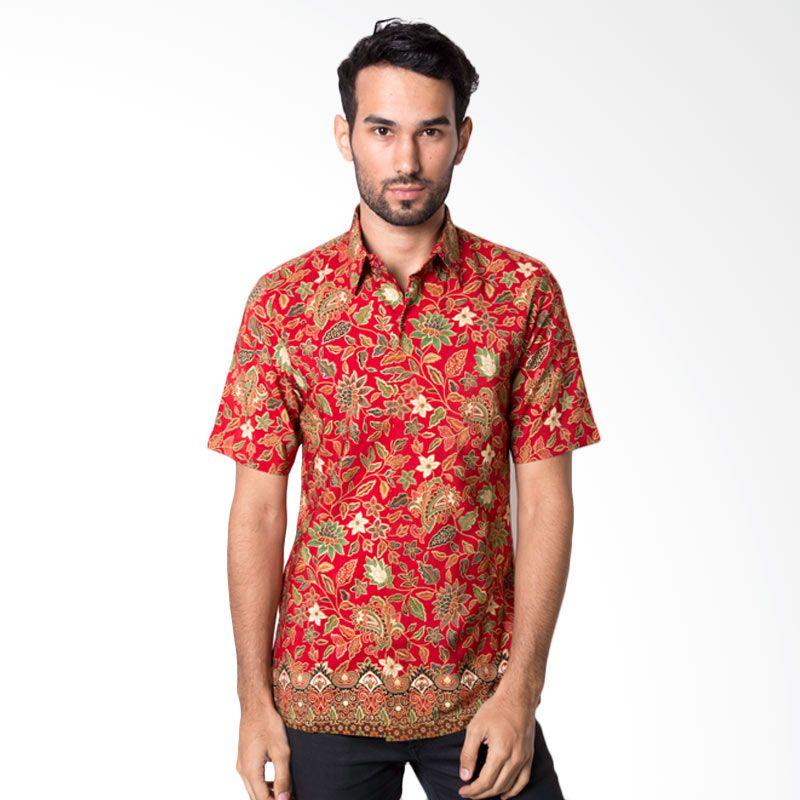 Baju Batik Pria Warna Merah Images