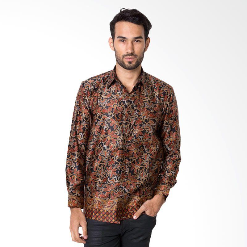 harga BII Bingkisan - Batik Heritage Exclusive Linen Taman Bunga Hitam Baju Batik Pria Blibli.com