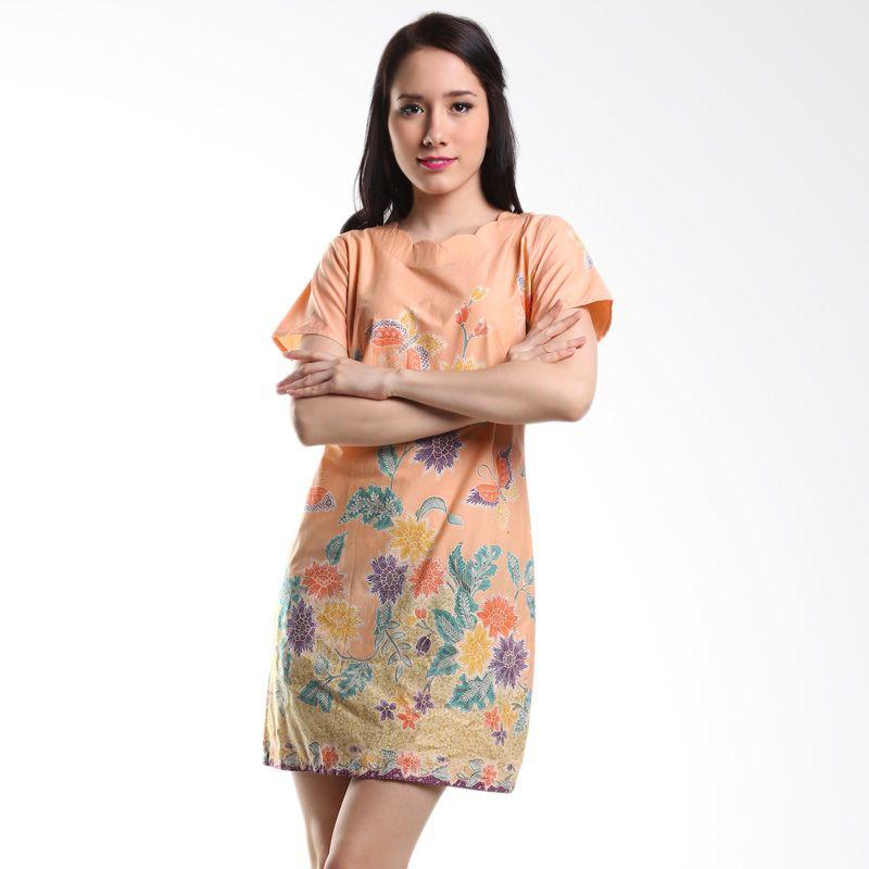 Batik Pelangiku Tiffany Peach Dress Batik