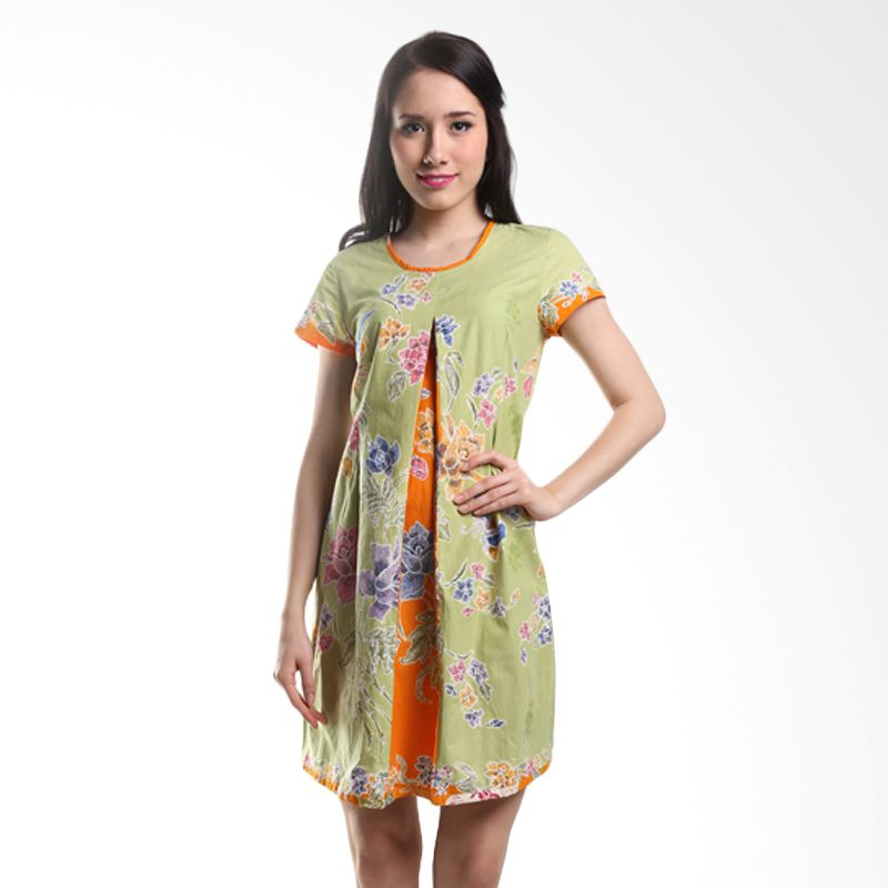 Batik Pelangiku Zoe Pastel Green Dress Batik
