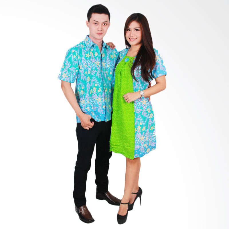 harga Batik Putri Ayu Solo SRD33 Batik Sarimbit Couple - Hijau Blibli.com
