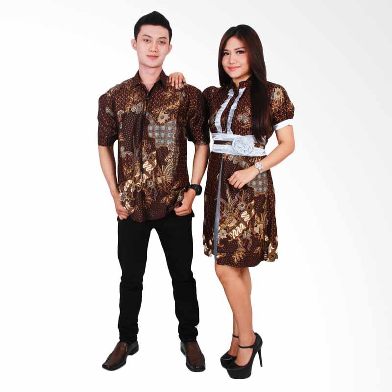 harga Batik Putri Ayu Solo Batik Sarimbit Dress SRD 32 Baju Batik Couple -  Silver Blibli 71d370a0e4