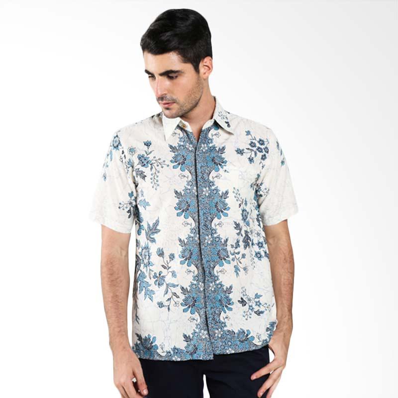 Batik Motif Bunga Pria: Batik Trusmi Kemeja Motif Keong Hijau