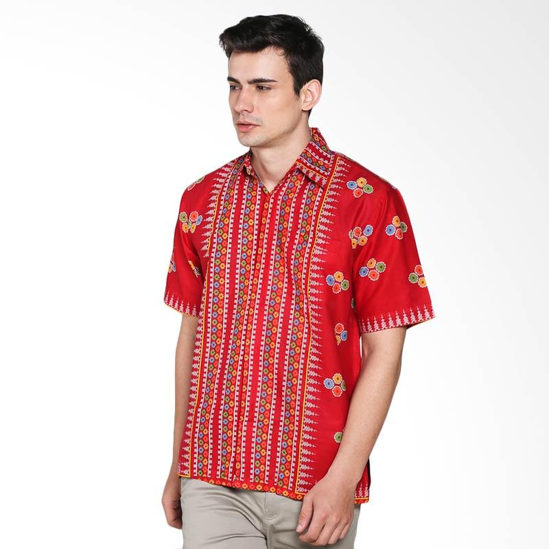 harga Batik Trusmi Hem Motif Sarung Prada Parang HEM MTF SR PRD PRG Batik Pria - Red Blibli.com
