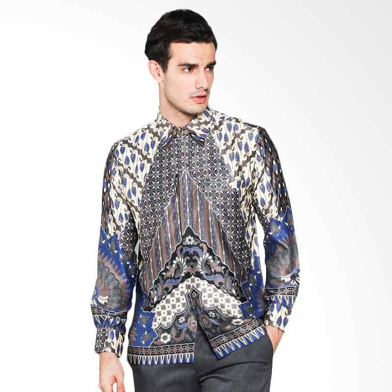 Jual batik waskito kb 59049 long sleeve silk shirt batik for Men s batik bay silk blend button down shirt