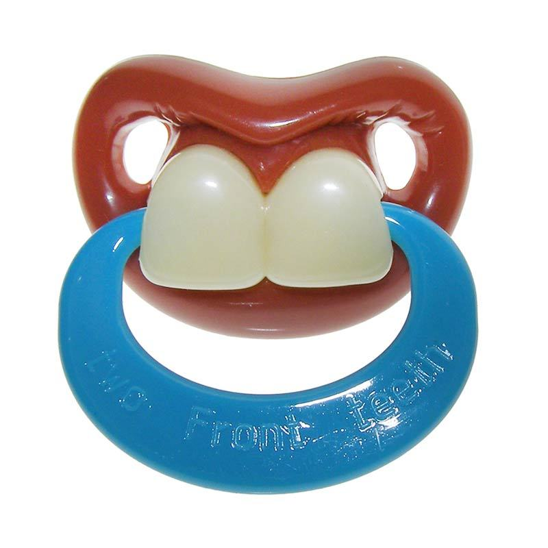 BillyBob Two Front Teeth Pacifier with Ring
