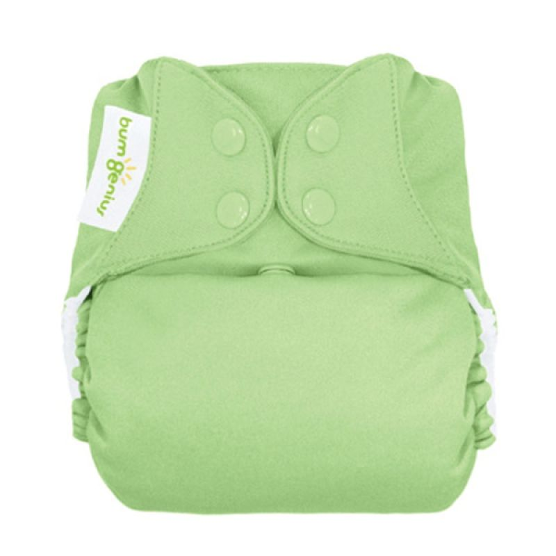 Bumgenius 4.0 Pocket One Size Stay Dry Diaper Grasshopper Snap