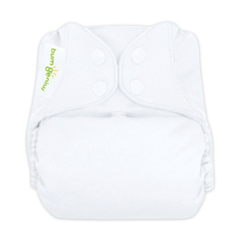 Bumgenius 4.0 Pocket One Size Stay Dry Diaper White Snap