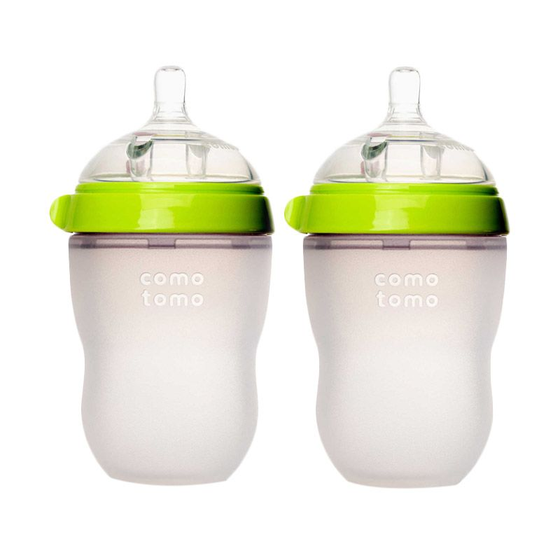 Comotomo Twin Pack Green Botol Susu [250 mL/2 Pcs]